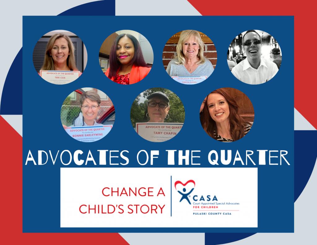 Collage of Pulaski County CASA's Advocates of the Quarter
